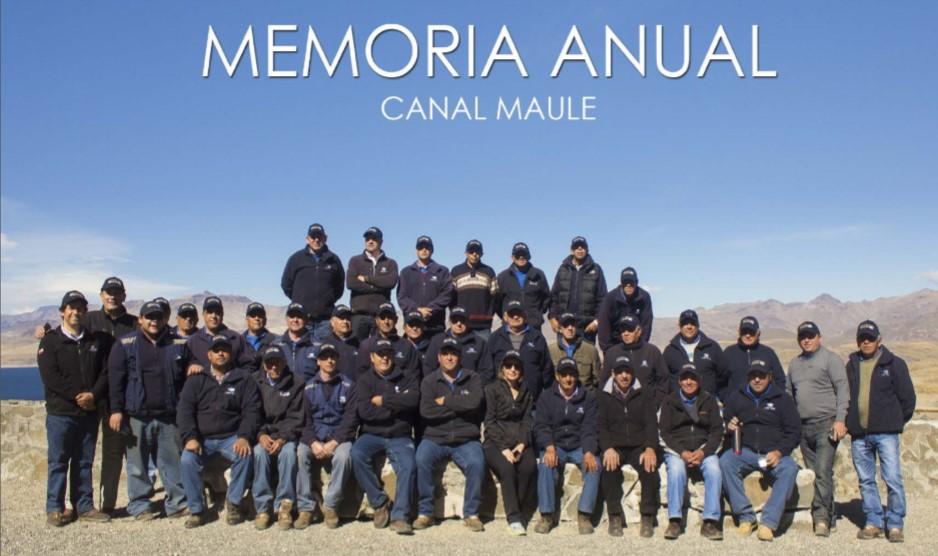 Memoria Anual 2015-2016 de Asociación Canal Maule